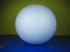 NEW 1 PC WHITE COLOR STYROFOAM BALL FOR ART/ CRAFT 12 INCHES DECOR FREE SHIPPING