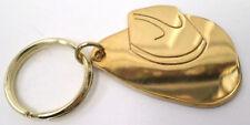 Solid Brass Key Chain Western Cowboy Cowgirl Hat Fob Charm #C-9