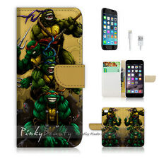 iPhone 6 / 6S (4.7') Flip Wallet Case Cover! P0088 TMNT Ninja Turtle
