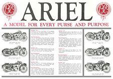 1929 Ariel  motorcycle range poster