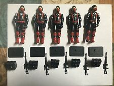 Black Major Custom GI Joe Black & Red Cobra Trooper Silver Logo X5
