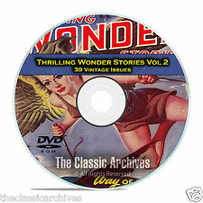 Thrilling Wonder Stories, Vol 2, 39 Vintage Pulp Magazine, Fiction DVD CD C60
