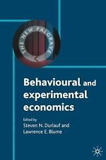 The New Palgrave Economics Collection: Behavioural and Experimental Economics...