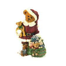 BOYDS CHRISTMAS BEARSTONE FIGURINE KRINGLE & CO...THANKS FOR THE MEMORIES NEW/13