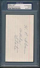 Henry Iba Index Card PSA/DNA Certified Authentic Auto Autograph Signed *5150