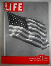 1941 December 22 - LIFE MAGAZINE - Pearl Harbor - US Goes To War - WWII WW2