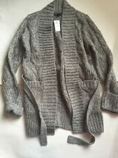 NWT Gap Kids Belted Cable Sweater Coat Oxide Grey 10 (L)