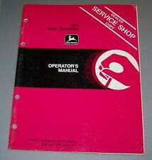 John Deere 605  Spin Spreader Operators Manual OM-GA11393 K7  Used  B3