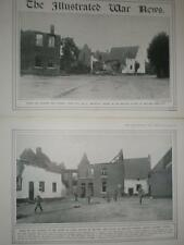 2 WW1 photographs Mouland Belgium 1914