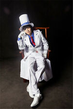 New! Anime Magic Kaito Kaitou Kid Cosplay Costume Full Set RDGB #99