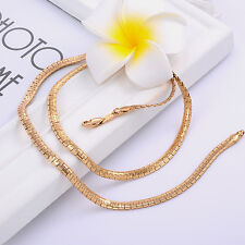 Girls Vintage 14K Yellow Gold Filled Link Chain Long Necklace Hot