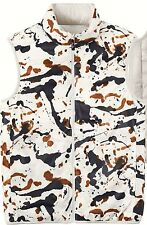 UNIQLO x JACKSON POLLOCK Men's Light Down Reversible Vest L w/ Carry Pouch *NWT*