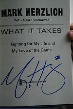 What It Takes:autographed by New York Giants LB  Mark Herzlich...