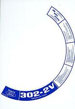 1972 1973  FORD TRUCK  302- 2V AIR CLEANER DECAL