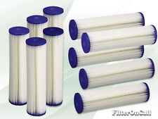 10 Pleated Washable Sediment Water Filter 5 micron Reverse Osmosis Whole House