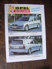 MS Design Opel Vectra B Kombi Prospekt / Brochure / Depliant, D/GB/F