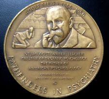 """Adolf Meyer The Father of American Psycho Biology / Bronze Medal 76 mm/ 3"""" / M27"""