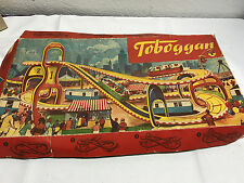 Vintage Technofix Marke Tin Toy Toboggan Roller Coaster #290 1 Car original box