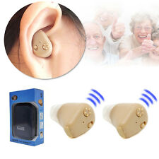 2X Rechargeable Mini Adjustable Tone In Ear Digital Hearing Aids Sound Amplifier
