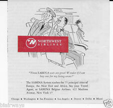SABENA BELGIAN WORLD AIRWAYS 1953 GREAT SEATS CAN I BUY ONE FOR LIVING ROOM AD