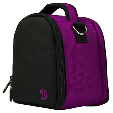 New Purple Nylon Compact DSLR Cameras Case Bag for Nikon / Canon / Sony / Casio