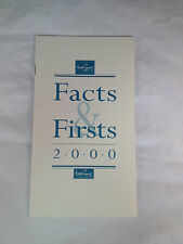 WDCC - Walt Disney Classics Collection Facts & Firsts Price List 2000