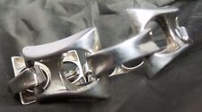 GORGEOUS UNO A ERRE OF ITALY MODERNIST STERLING SILVER BRACELET - 1950s