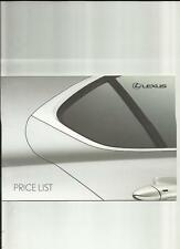 LEXUS LS600h,LS 460,GS300/450h/460, RX 400h +MORE PRICE LIST BROCHURE JULY 2008