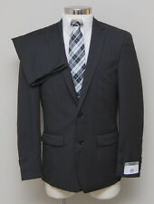 NWT Mens 42R DKNY 2 Piece Black 100% Wool Suit