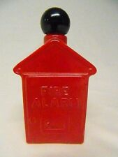 Vintage Avon Glass Fire Alarm Pull Box Avon Spicy After Shave 4oz ~Full Bottle~