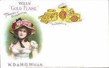 Advertising. W.D.& H.O.Wills Gold Flake Tobacco & Cigarettes.