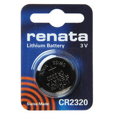 renata CR2320 Cell Coin Button Lithium Battery 3V Tag Watch Key x1 Made in swiss