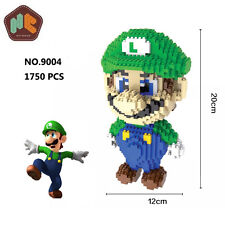 HC Game Super Mario Luigi Figure Diamond Mini DIY Building Nano Block Kids Toy