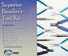 SUPERIOR BEADER'S TOOL KIT JEWELRY MAKING BEADING TOOLS SET of 9 Bead Tools Kit