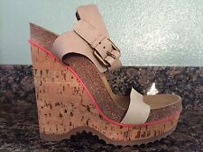 Stella McCartney Maia Wedge Platform Cork Shoes Size EUR 40 Made In Italy