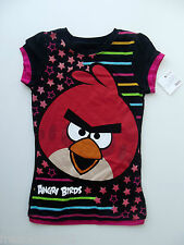 Angry Birds Girls Stars/Stripes Sparkly Graphic T-Shirt size Medium NWT G82566