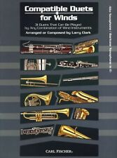 Compatible Duets For Winds Alto Saxophone Baritone Play Sax Bari Music Book