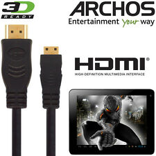 Archos 80,101 G9, 70 Titanio, Android Tablet PC Mini HDMI a HDMI TV 3M Cavo