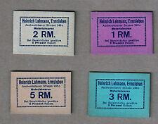 Notgeld / Papiergeld: 1 RM., 2 RM., 3 RM., 5 RM., Heinrich Lehmann, Ermsleben