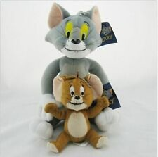 2pcs/set Tom and Jerry Plush Doll Soft Stuffed Animal Cat And Mouse Cartoon Toys