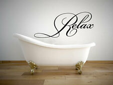 "Relax Bathroom Quote Vinyl Wall Decal #2 Graphics Home Decor 28""x12"""