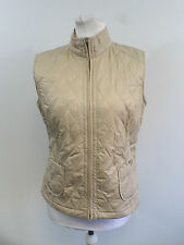 FRANK WALDER ladies cream quilted gilet SIZE 38 / 12 RRP £91 NEW BOX8501 H