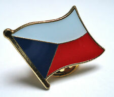 Czech Republic Flag Lapel Pin Badge Superior High Quality Gloss Enamel