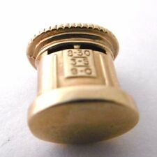 Vintage GPO POST OFFICE LETTER BOX  9ct rose gold small charm Chester Hallmark