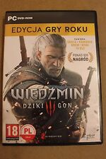 THE WITCHER 3 WILD HUNT GOTY EDITION PC DVD POLISH, ENGLISH LANGUAGE
