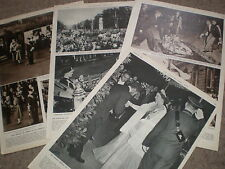 Photo article Emperor of Ethiopia Haile Selassie visit to London UK 1954 ref X3