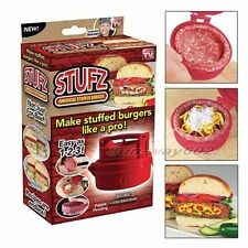 Stuffed Burger Press Hamburger Grill BBQ Patty Maker Juicy As Seen On TV
