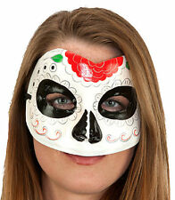 Day of the Dead Sugar Skull Unisex Plaster Paper mache Hand Painted Mask 27018