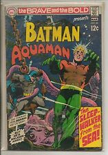 DC Comics Brave & Bold #82 March 1969 Batman & Aquaman Neal Adams VG+
