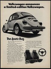 1973 VOLKSWAGEN BEETLE Limited Edition Car - VW - The Sports Bug - VINTAGE AD